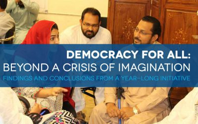 Democracy for all: beyond a crisis of imagination findings and conclusions from a year-long initiative