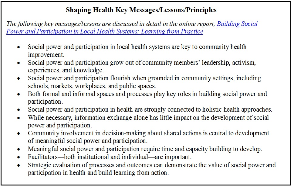 Shaping health key messages image