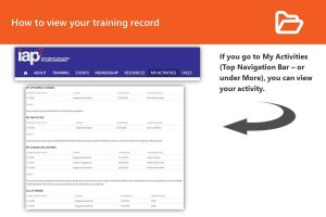 How to check training record infographic