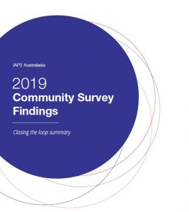 Community survey findings text in purple circle